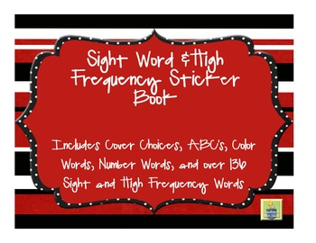 Sight Word Sticker Book | Sight Word Motivation | Sight Word Practice