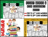 Sight Word & High Frequency Words Printables - Fry's Words