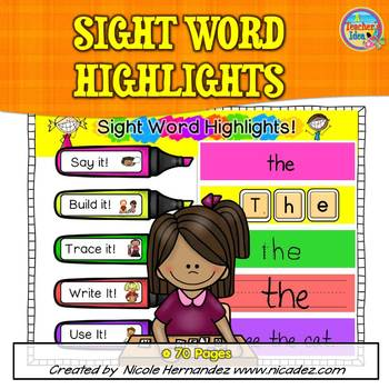 Sight Words Practice - Say, Build, Trace, Write and Use!