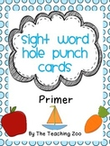 Sight Word Hole Puncher Cards (Primer)