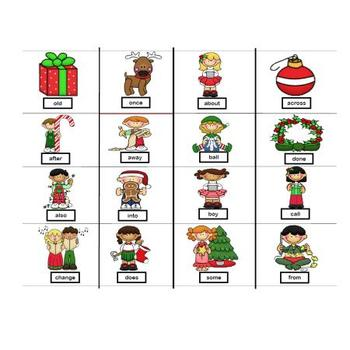 Sight Word Holiday BINGO