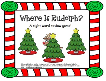 Sight Word Holiday Smart Board Game