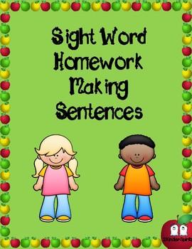 Sight Word Homework