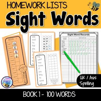 Sight Word Homework Book 1 - Australian Version