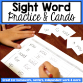 Sight Word Homework - Dolch List