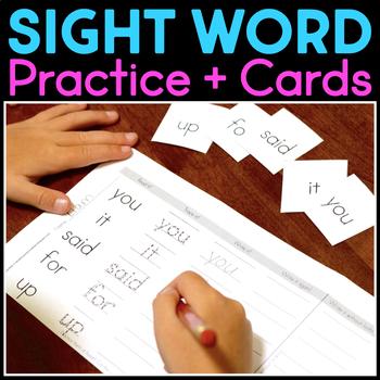 Sight Word Homework - Dolch List