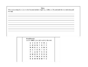 Sight Word Homework! Fry's third 100 words