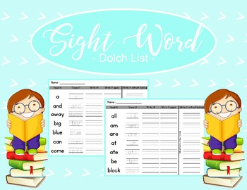 Sight Word Homework - Handwriting Practice