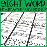 Sight Word Homework Mini Books