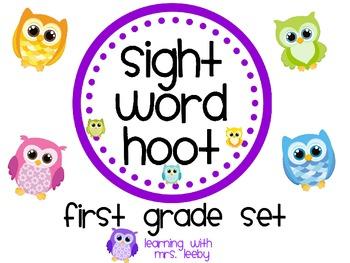 Sight Word Hoot - First Grade List