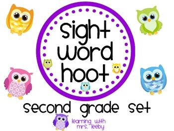 Sight Word Hoot - Second Grade List
