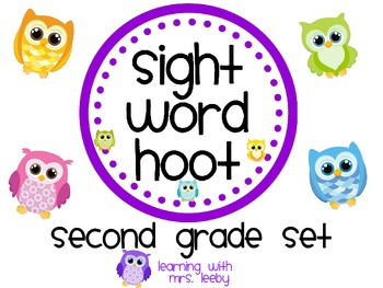 Sight Word Hoot - Second Grade List