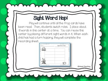 Sight Word Hop! {Fry List 1 - 100}