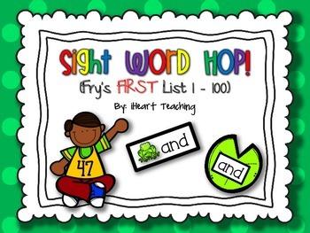 Sight Word Hop! {Fry List 1 - 100}