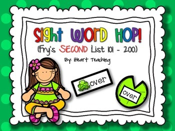 Sight Word Hop! {Fry List 101 - 200}