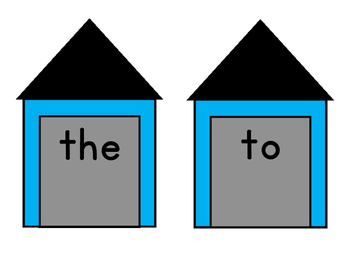 Sight Word Houses