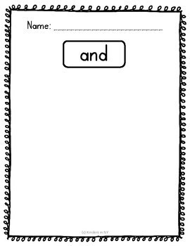 Sight Word Practice; Sight Word Hunt (25 High-Frequency Words) K, First Grade