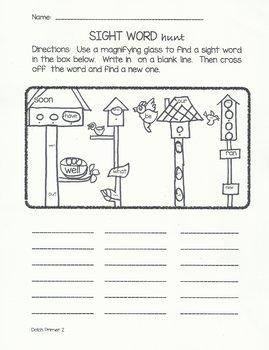 Sight Word Hunt-Dolch Primer Words #2