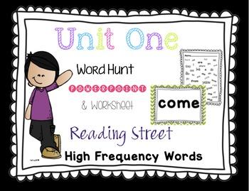 Sight Word Hunt Interactive PowerPoint - Reading Street Un