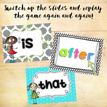 Sight Word Hunt PowerPoint Game - 5 Pack Bundle