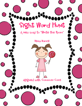 """Sight Word Hunt - a new way to """"write the room"""""""