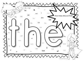 Sight Word Hunts: Be a Reading Superhero!