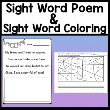 Sight Word I {2 Sight Word Books and 4 Worksheets!}