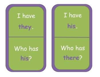 Sight Word I Have Who Has Game