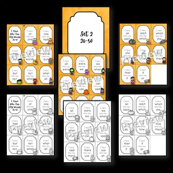 Sight Word: I Have Who Has Game -Halloween Theme-