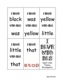"""Sight Word """"I Have, Who Has"""" Game- K"""