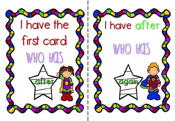 I Have Who Has Sight Word Games - Pre-Primer, Primer & 1st Grade