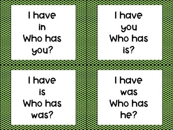 "Sight Word ""I have____ Who has____?"""