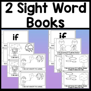 Sight Word IF {2 Sight Word Books and 4 Worksheets!}