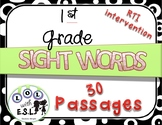 Sight Word INTERVENTION passages: 1st Grade