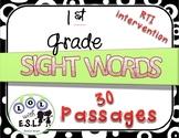 Sight Word INTERVENTION passages: 1st Grade