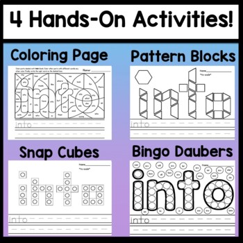 Sight Word INTO {2 Sight Word Books and 4 Worksheets!}