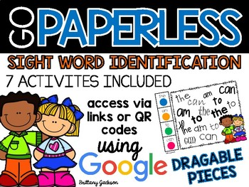 Sight Word Identification Activities using Google Slides