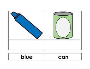 Sight Word Identification Sort Cards (Pre-Primer)