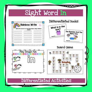 Sight Word In Activities