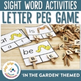 Sight Word In the Garden Letter Pegs