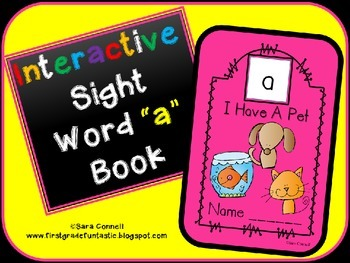 Sight Word Interactive Book *a*