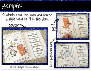 Sight Word Nursery Rhyme Interactive Book- Hey Diddle Diddle