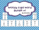 Sight Word Interactive Booklet Bundle 1
