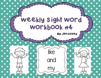 """Sight Word Interactive Booklet """" like and my"""""""