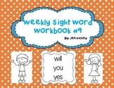 "Sight Word Interactive Booklet: ""will you yes"""