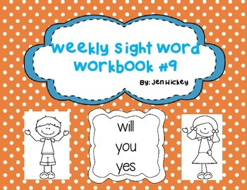 """Sight Word Interactive Booklet: """"will you yes"""""""