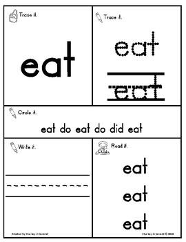 Sight Word Interactive Mats {Dolch: Kindergarten/Primer}