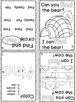 Sight Word Interactive Mini Books E-H Grade 1