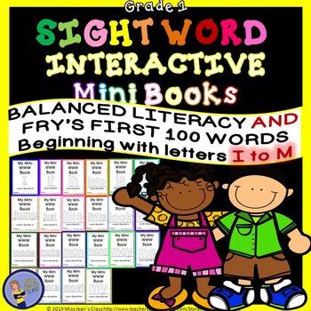Sight Word Interactive Mini Books I-M Grade 1
