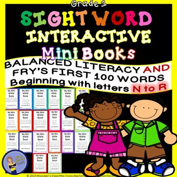 Sight Word Interactive Mini Books N-R Grade 1